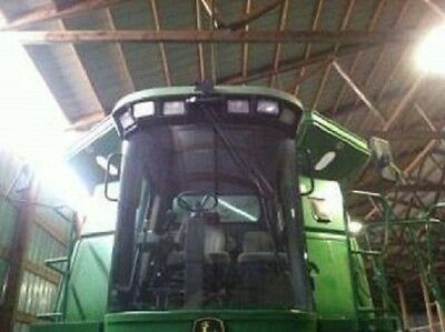 2005 John Deere 9660 STS Combine W/ Contourmaster Bean Head and Trailer