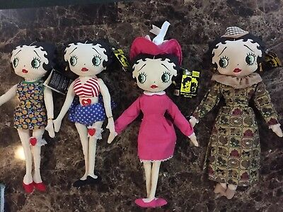 Lot Of Four Betty Boop Dolls By Kelly Toy