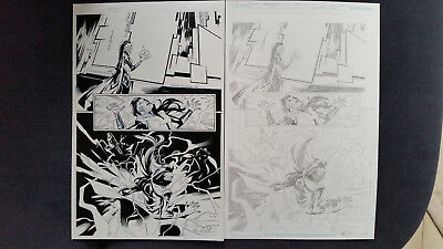 Supergirl#39 page 06 pencil & inks E. Lupacchino & Ray McCarthy signed