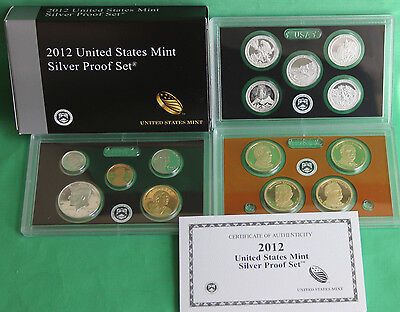 2012 United States Mint ANNUAL 14 Coin SILVER Proof Set Free Shipping in the USA