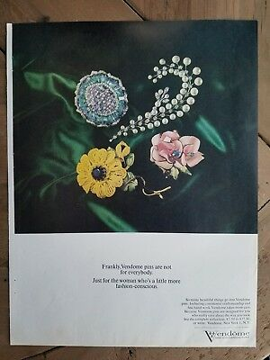 1964 Vendome flower pins brooch not for everybody jewelry ad