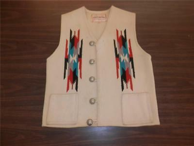 VINTAGE CHIMAYO HAND WOVEN +  HAND TAILORED MEN'S VEST ca. 1960's SIZE 40