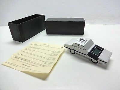 Vintage Nos Ac Rochester Milled Aluminum Model Car Desk Clock Paperweight Mint