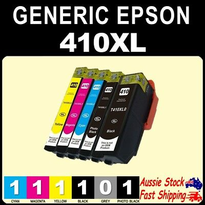 2x 5x 6x 410XL High Yield Non-OEM Inks for EPSON XP530 XP630 XP540 XP640 XP900