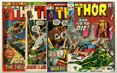 Thor #190,198,199,200 Avg G/VG Marvel Comics