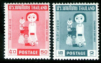 Thailand 1963 Children's Day set of 2 Mint Unhinged