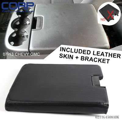 For 07-13 Chevy Cadillac GMC Pickup Truck SUV Front Seat Center Console Black