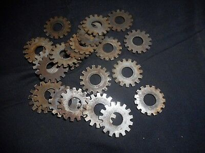 Antique Steel Gears Lot Of 24