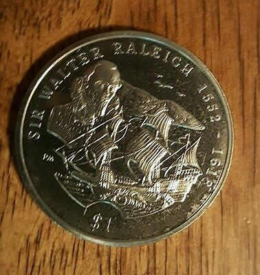 British Virgin Islands 2002 Sir Walter Raleigh $1 Coin