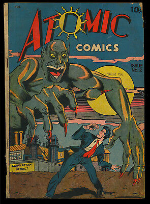 Atomic Comics #2 (Missing One Page) Manhattan Project Monster Cover 1946 GD-*