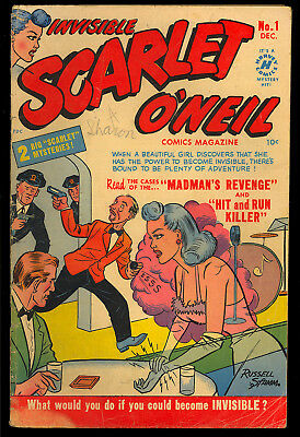 Invisible Scarlet O'Neil #1 Nice First Issue Pre-Code Harvey Comic 1950 GD-VG