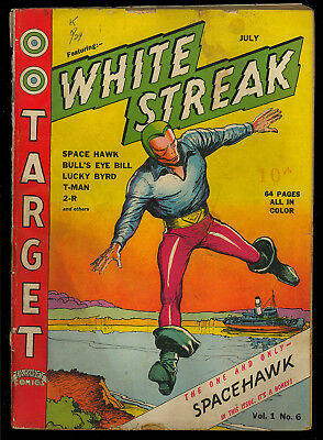 Target Comics #6 Scarce Early Golden Age White Streak Origin Wolverton 1940 GD-
