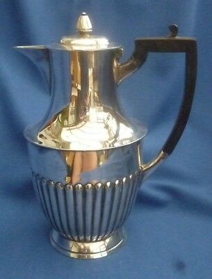 Browett Ashberry & Co Vintage Silver Plate Half Fluted Tea / Coffee Pot ~