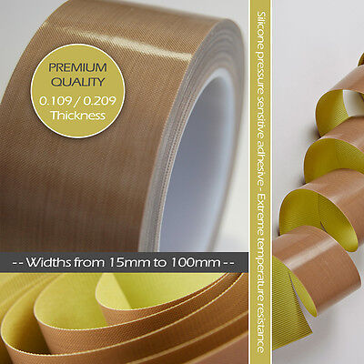 Ptfe Teflon Heat Seal Tape Roll Nonstick Self Adhesive Vacuum Packer Glass Woven