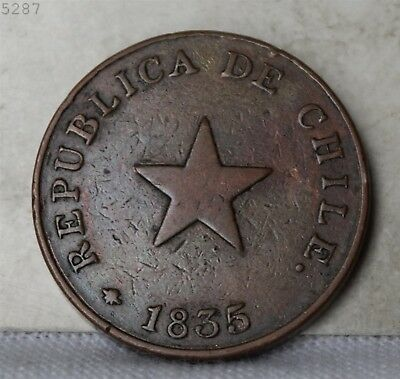 1835 Chile 1 Centavo *Free S/H After 1st Item*