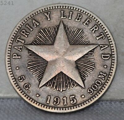 1915 *Silver* Patria Y Libertad 20 Centavos *Free S/H After 1st Item*