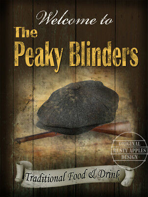 The Peaky Blinders Metal Sign: Personalised Wording/text: Shop Cafe Stall Etc