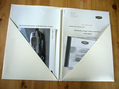 Bentley Arnage T press kit, 2002, excellent condition, rare & original