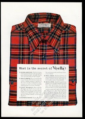 1949 William Hollins Viyella men's plaid shirt photo vintage fashion print ad