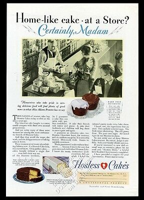 1928 Hostess cupcake chocolate layer cake Silver Bar photo vintage print ad
