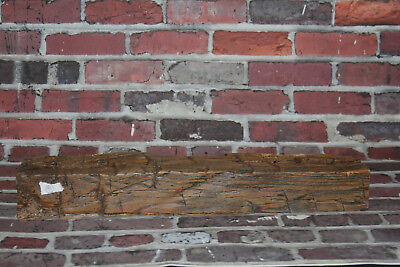 Rustic Reclaimed Mantle Hand Hewn Barn Beam Wood Mantel Floating Shelf 24""