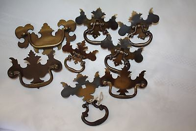 Antique Lot Mismatched Drop Handles Door Pulls English Antique Vintage Brass