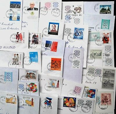 Estonia: Letters With Different Stamps  1993-2000