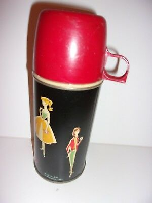 Vintage 1962 Barbie Thermos #2025H - Complete - Barely Used - w/Original Insert