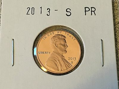 2013 S Gem Proof  Lincoln Shield Cent Penny