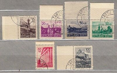 World War 2: Estonia: German Occupation, Estonian Towns Stamp Set 1941.