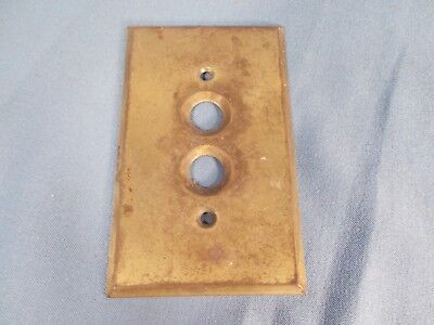 Antique Brass Single Push Button Light Switch Plate Cover
