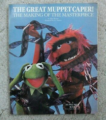 Vintage 1981 The Great Muppet Caper Book The Making Of The Masterpiece Muppets