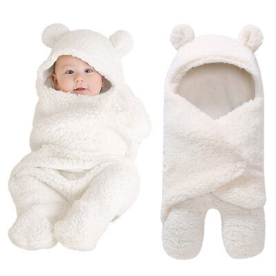 Newborn Infant Baby Boy Girl Swaddle Sleeping Bag Wrap Blanket Photography Prop