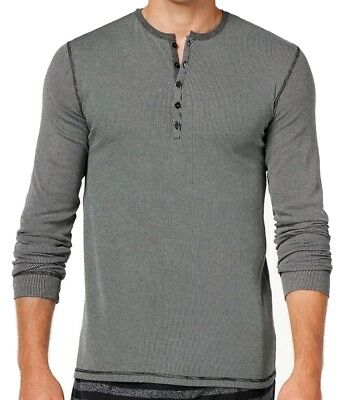 Kenneth Cole Reaction NEW Black Mens Size Small S Henley Sleepwear $39 #359