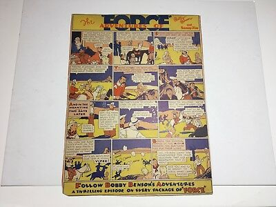 1930's Force Cereal The Adventures Of Bobby Benson& Sunny Jim Cereal Box Back
