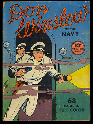 Four Color (Series One) #22 Don Winslow of the Navy Dell Comic 1941 GD+
