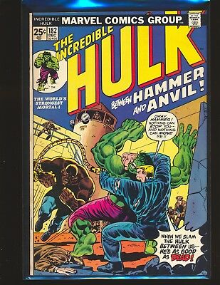 Incredible Hulk # 182 Marvel Value Stamp intact - 3rd Wolverine Fine+ Cond.