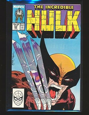 Incredible Hulk # 340 - McFarlane Wolverine cover Fine/VF Cond.