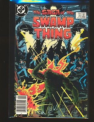 Saga of the Swamp Thing # 20 - 1st Alan Moore issue VF Cond.