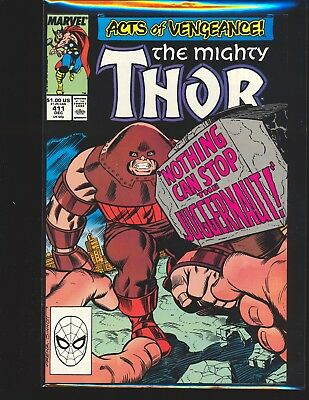 Thor # 411 - 1st New Warriors cameo VF Cond.
