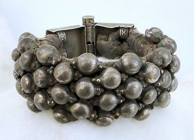 Antique Ethnic Tribal Old Silver Jewelry Bracelet Bangle Cuff 4813