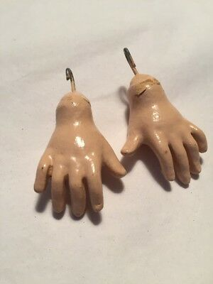 ~ Nice! Antique Style Vintage Replacement Hands For BJ French Doll Body ~