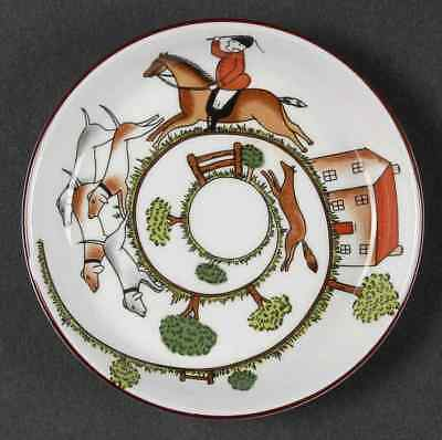 Crown Staffordshire HUNTING SCENE Coaster 95139