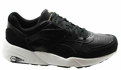 97cec36c8d2 Puma Trinomic R698 Core Leather Men Trainers Running Shoes Black 360601 02  U25