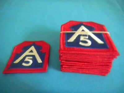 Vintage WWII Military or Merchant Marine Patches A5 Excellent Cond. Lot of 20!