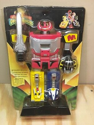 Vintage Mighty Morphin Power Rangers Megazord Stand Clock in package NEW?