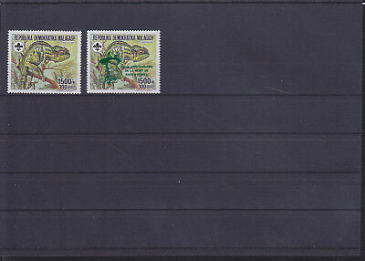 058444 Reptilien Reptils Malagasy 1115 + 1535 A b ** MNH Year 1988 + 1993