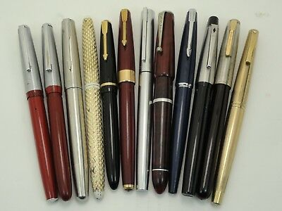 Collection Job Lot Of Vintage Fountain Pens