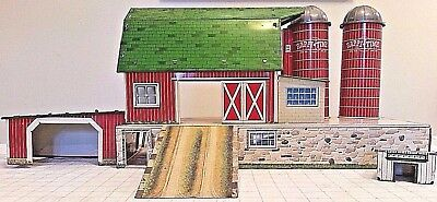 Marx Toys Happi Happy Time Platform Barn Farm Set Vtg 1959 Tin Litho Silo Coop