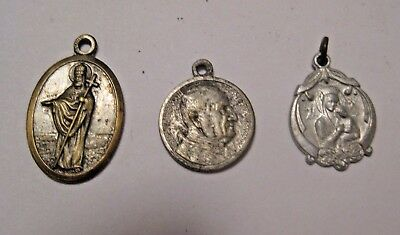 3 Vintage Religious Christianity Charms ~ Very Old Mixed Lot ~